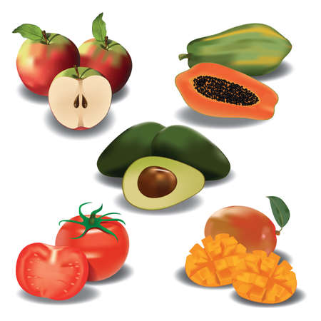slices: collection of fruit with slices