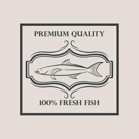 fresh fish: hundred percent fresh fish label