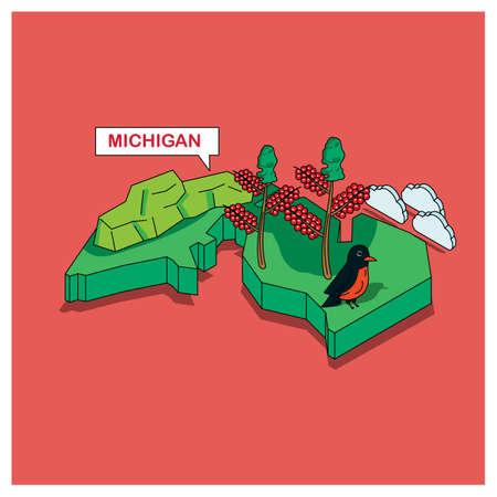 michigan: michigan state Illustration