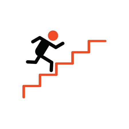 upstairs: man going upstairs