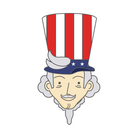 sam: uncle sam with hat