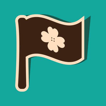 irish map: clover flag