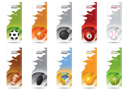 copy space: set of sports banners