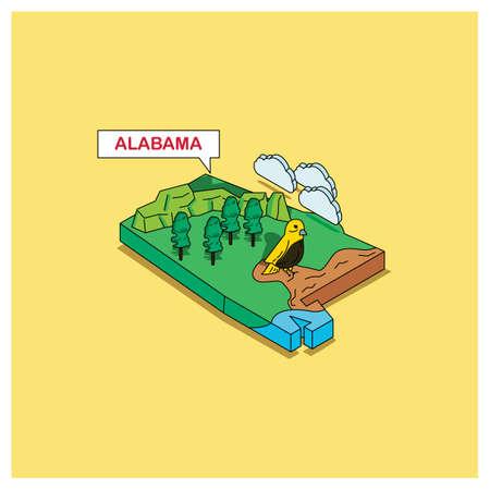 alabama: alabama state Illustration