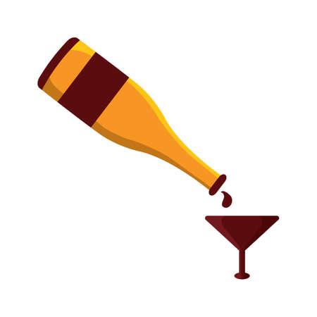 champaign: champaign with wine glass Illustration