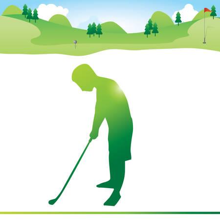 striking: man striking golf ball