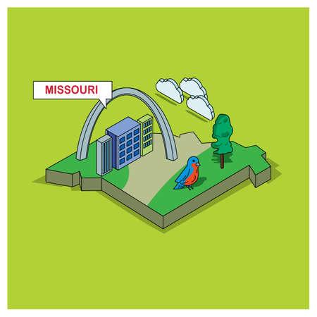 missouri: missouri state Illustration