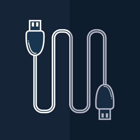 usb cable Illustration