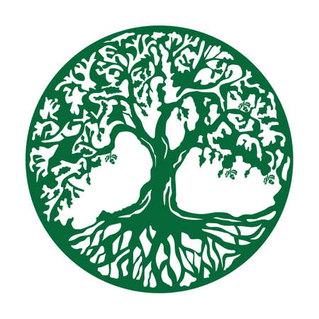 oak tree icon Stock Illustratie
