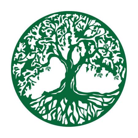 dąb ikona Ilustracje wektorowe