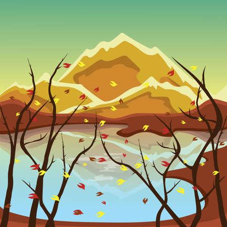 serene: serene landscape Illustration