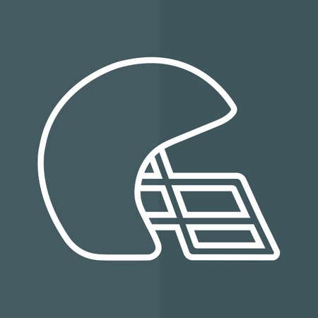 american football helmet: american football helmet Illustration