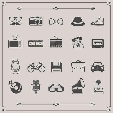 retro: retro icons Illustration