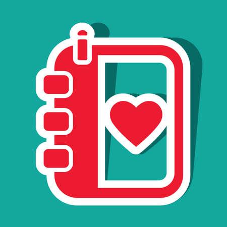 diary: diary with heart