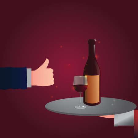 good: good wine Illustration