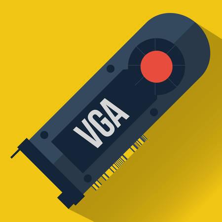 vga: tarjeta VGA Vectores