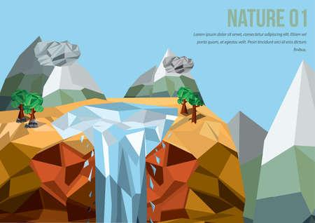 cascade mountains: waterfall background