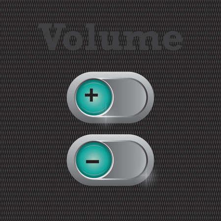 decrease: volume increase and decrease button