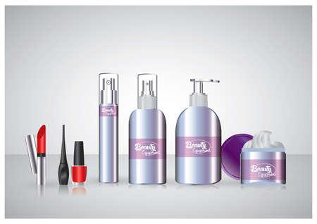 woman face cream: cosmetics Illustration