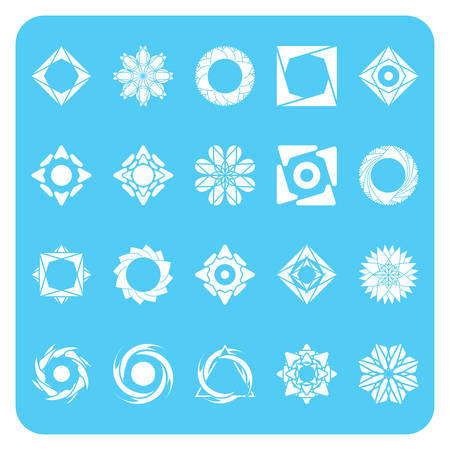with sets of elements: set of abstract icons