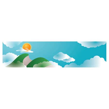 peak: mountain peak with clouds Illustration