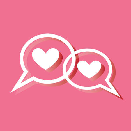 chat bubbles: hearts in chat bubbles