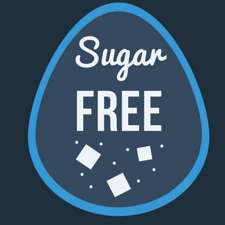 sugar cube: sugar free Illustration