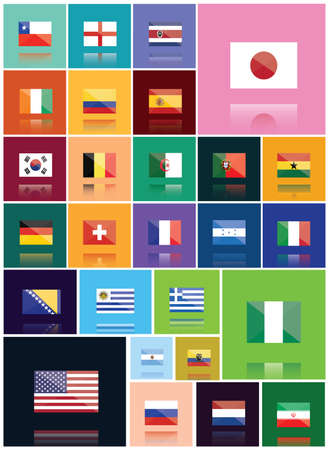 country flags: collection of country flags Illustration