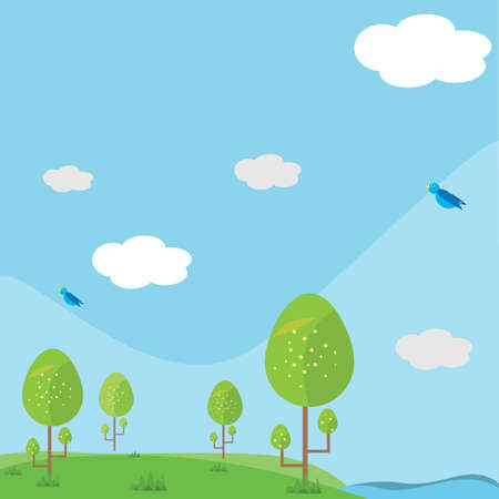 scenics: scenic landscape Illustration
