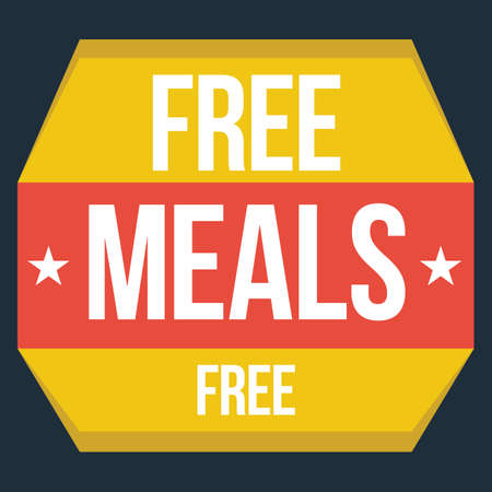 meals: free meals label