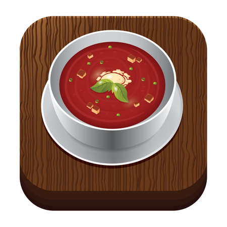 trencher: tomato soup