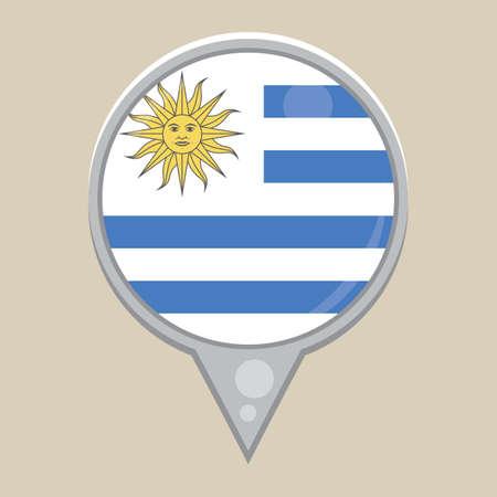 national identity: uruguay flag Illustration