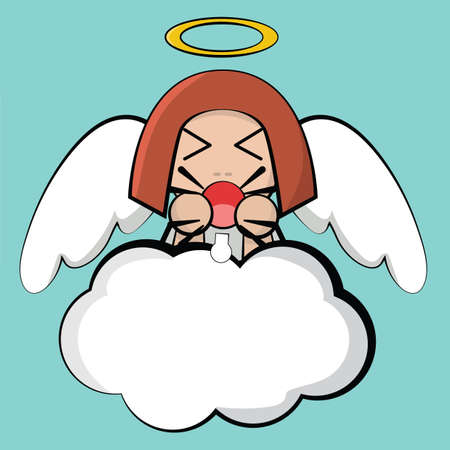angry angel: angel with angry expression