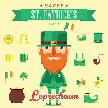 happy st. patricks day Illustration