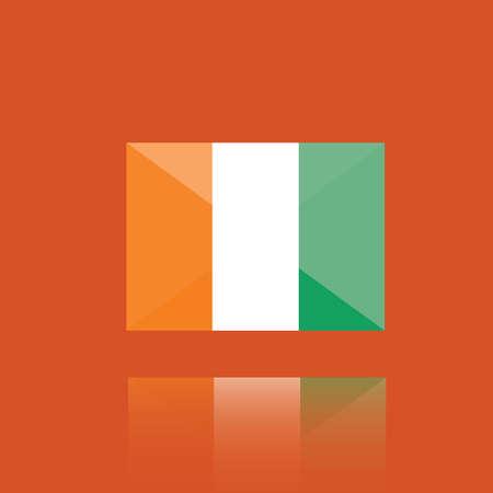 national identity: cote divoire flag