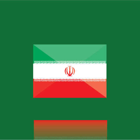 iran: iran flag Illustration