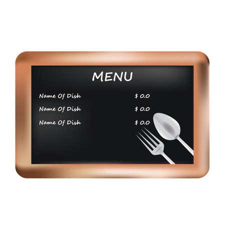eatery: menu on a slate board