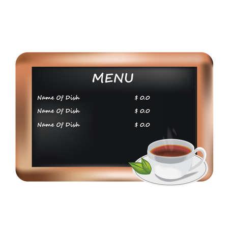 slate: menu on a slate board