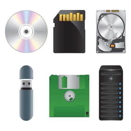 floppy drive: computer icon set