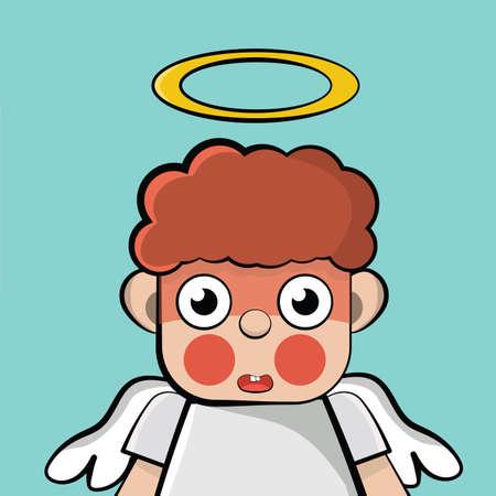 blushing: boy with wings blushing