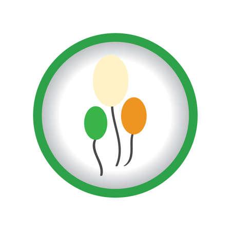 irish flag: balloons in irish flag colors
