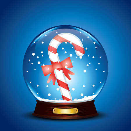 candy stick: candy stick in crystal ball