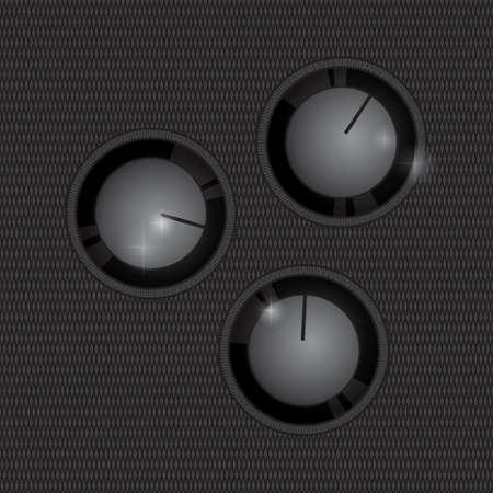 knobs: audio adjust knobs