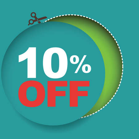 10: 10 percent off sale Illustration