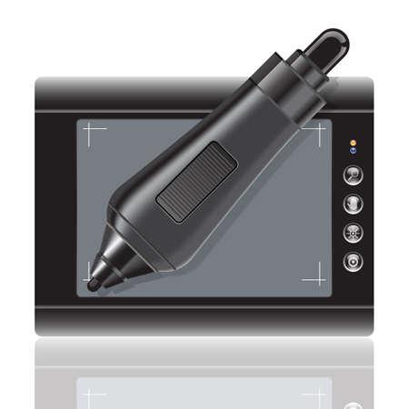 stylus: tablet pc Illustration
