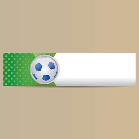 copyspaces: soccer banner Illustration