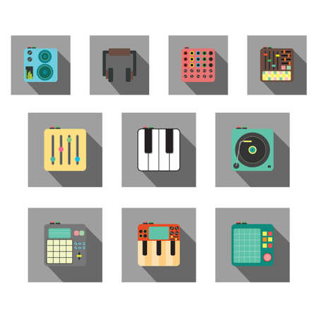 various: various musical electronic equipments