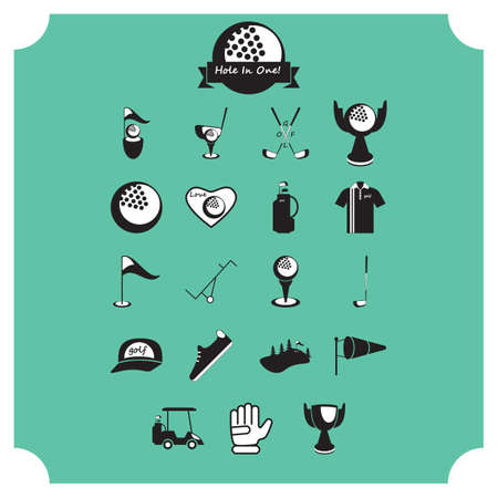 windsock: collection of golf equipment