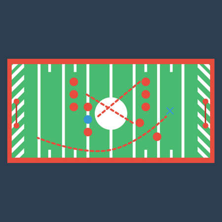 tactic: american football strategy plan Illustration