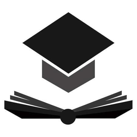 mortar: mortar board with book